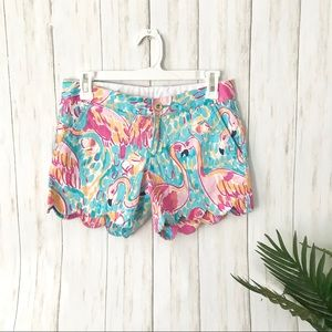 Lilly Pulitzer | Flamingo Scallop Shorts